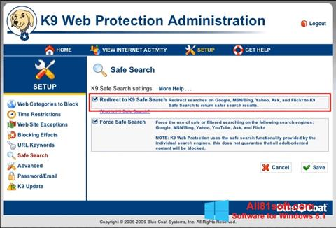 Screenshot K9 Web Protection Windows 8.1
