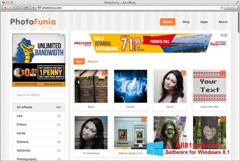 Screenshot PhotoFunia Windows 8.1