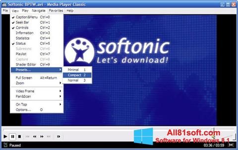 Screenshot Media Player Classic Windows 8.1