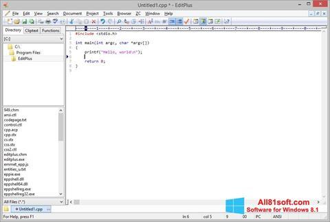 Screenshot EditPlus Windows 8.1