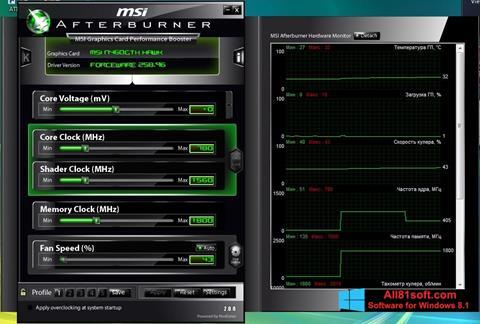 Screenshot MSI Afterburner Windows 8.1