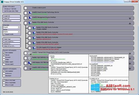Screenshot Snappy Driver Installer Windows 8.1
