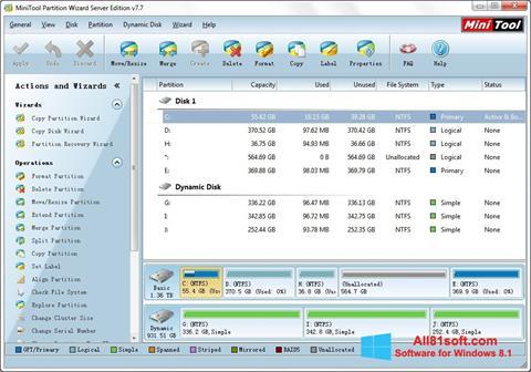 Screenshot MiniTool Partition Wizard Windows 8.1