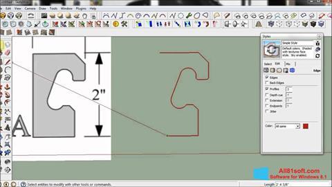 Screenshot SketchUp Windows 8.1