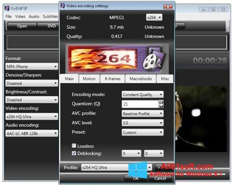 Screenshot XviD4PSP Windows 8.1
