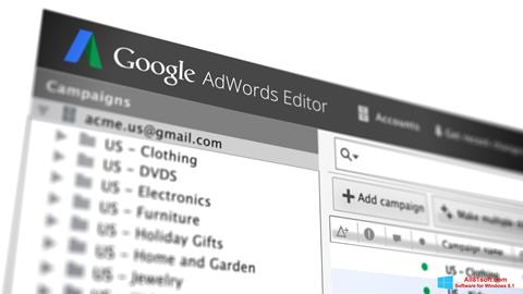 Screenshot AdWords Editor Windows 8.1