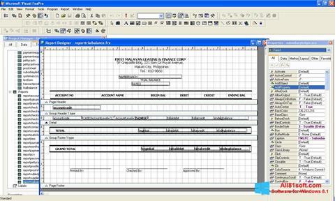 Screenshot Microsoft Visual FoxPro Windows 8.1