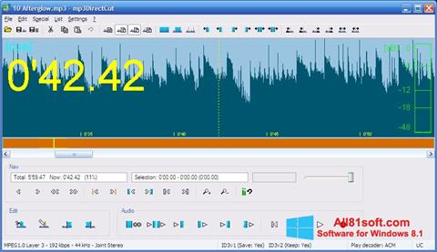 Screenshot mp3DirectCut Windows 8.1