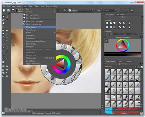 Screenshot Krita Windows 8.1