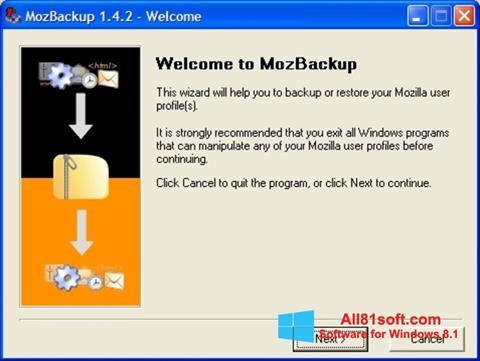 Screenshot MozBackup Windows 8.1