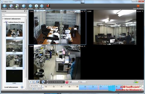 Screenshot Ivideon Server Windows 8.1