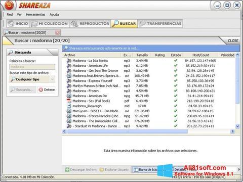 Screenshot Shareaza Windows 8.1