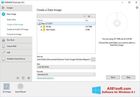 Screenshot DAEMON Tools Lite Windows 8.1