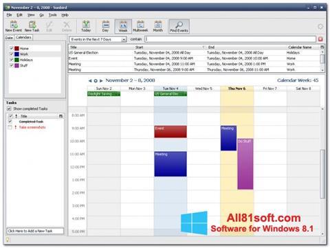 Screenshot Mozilla Sunbird Windows 8.1