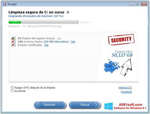 Screenshot PrivaZer Windows 8.1