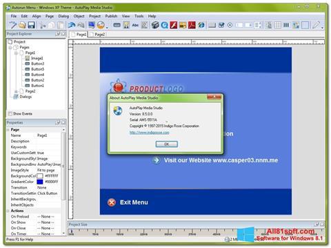 Screenshot AutoPlay Media Studio Windows 8.1