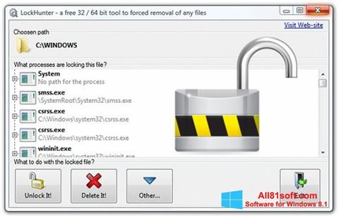 Screenshot LockHunter Windows 8.1