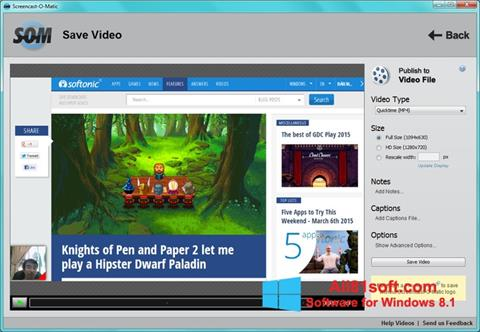 Screenshot Screencast-O-Matic Windows 8.1