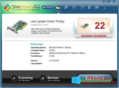 Screenshot SlimDrivers Windows 8.1