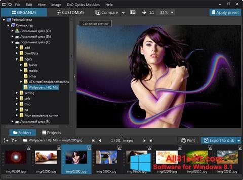 Screenshot DxO Optics Pro Windows 8.1