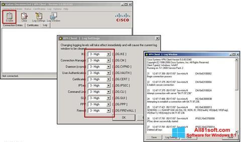 Screenshot Cisco VPN Client Windows 8.1