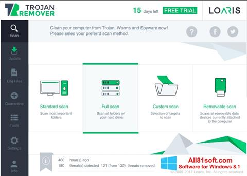 Screenshot Loaris Trojan Remover Windows 8.1