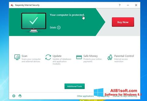 Screenshot Kaspersky AntiVirus Windows 8.1